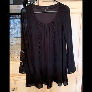 Sequin Hearts black dress xs. Never worn.